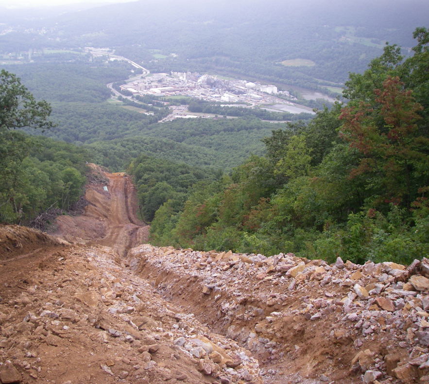 pipeline trench across our mountains