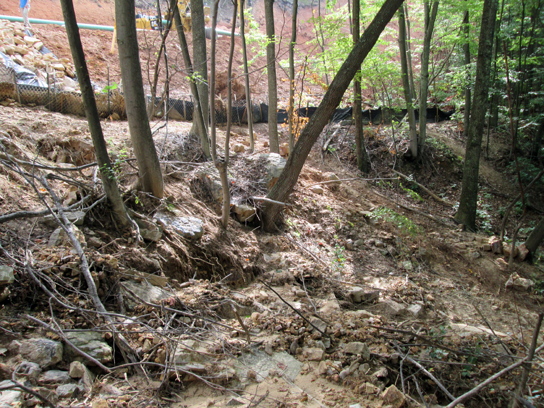 Failed erosion control. (Celanese Pipeline, Virginia)
