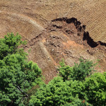 Slope failure after apparent final grading.